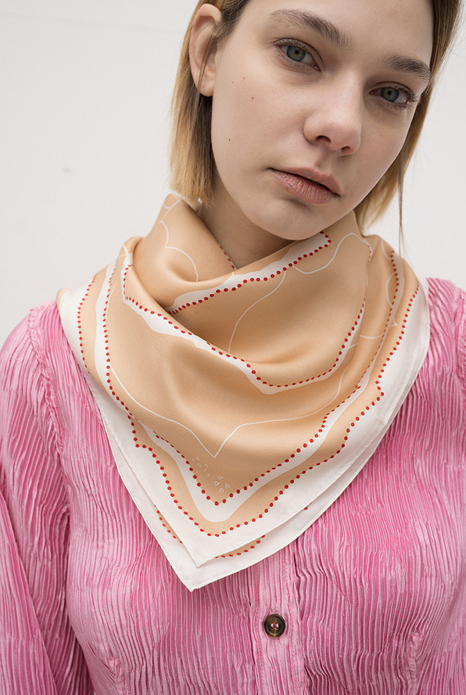 bleuet silk scarf - orange