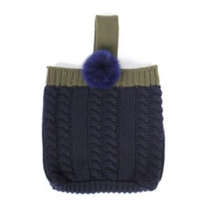 pompom mini bag navy